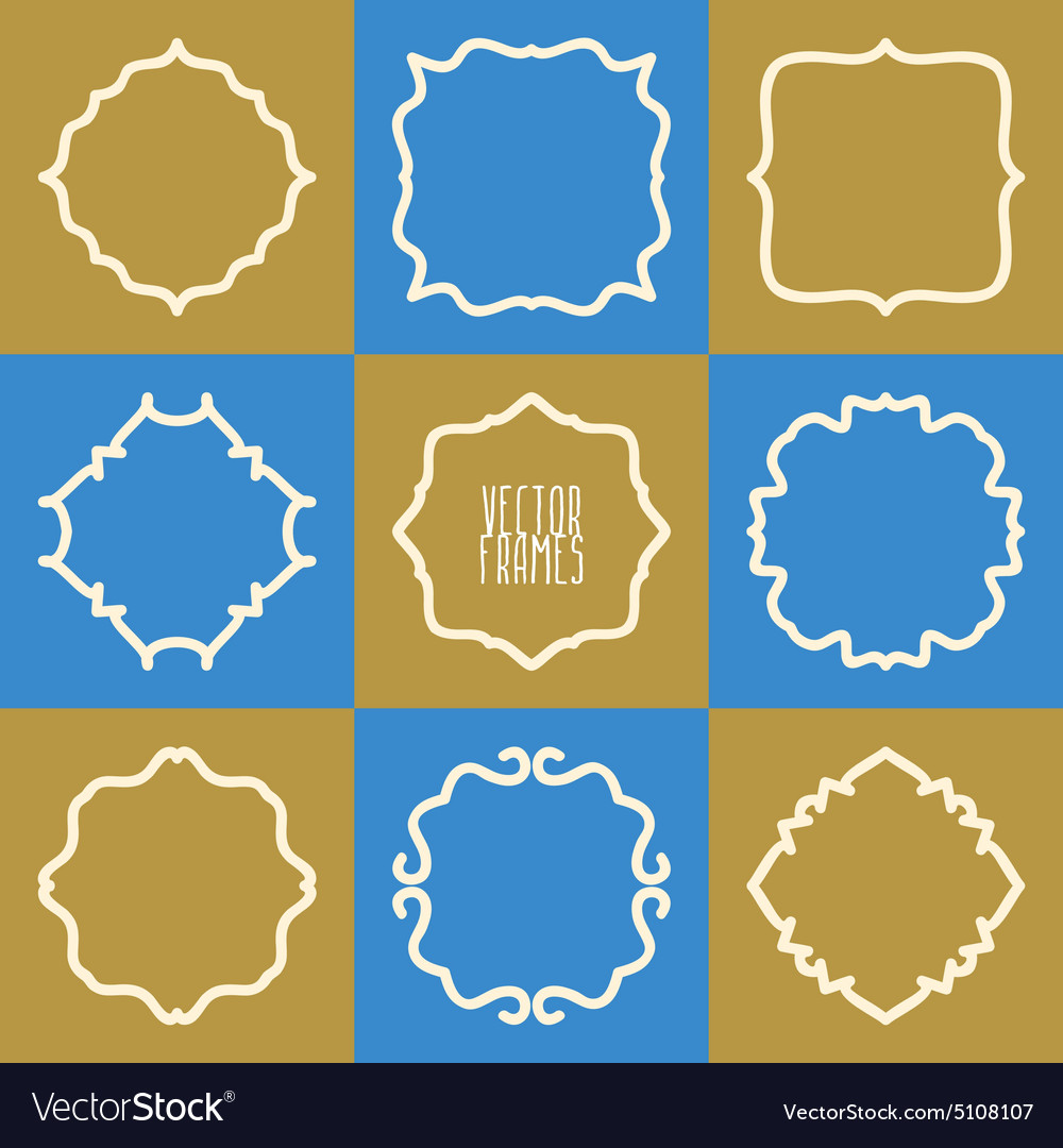 Set of abstract hipster logo badges frames