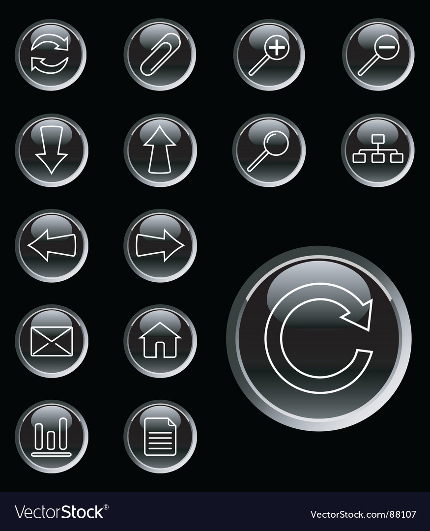 Web icons buttons