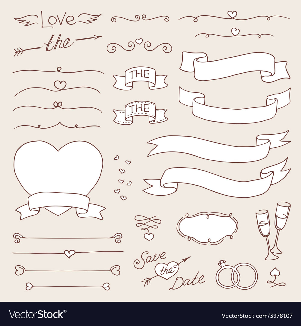 Wedding vintage set design elements