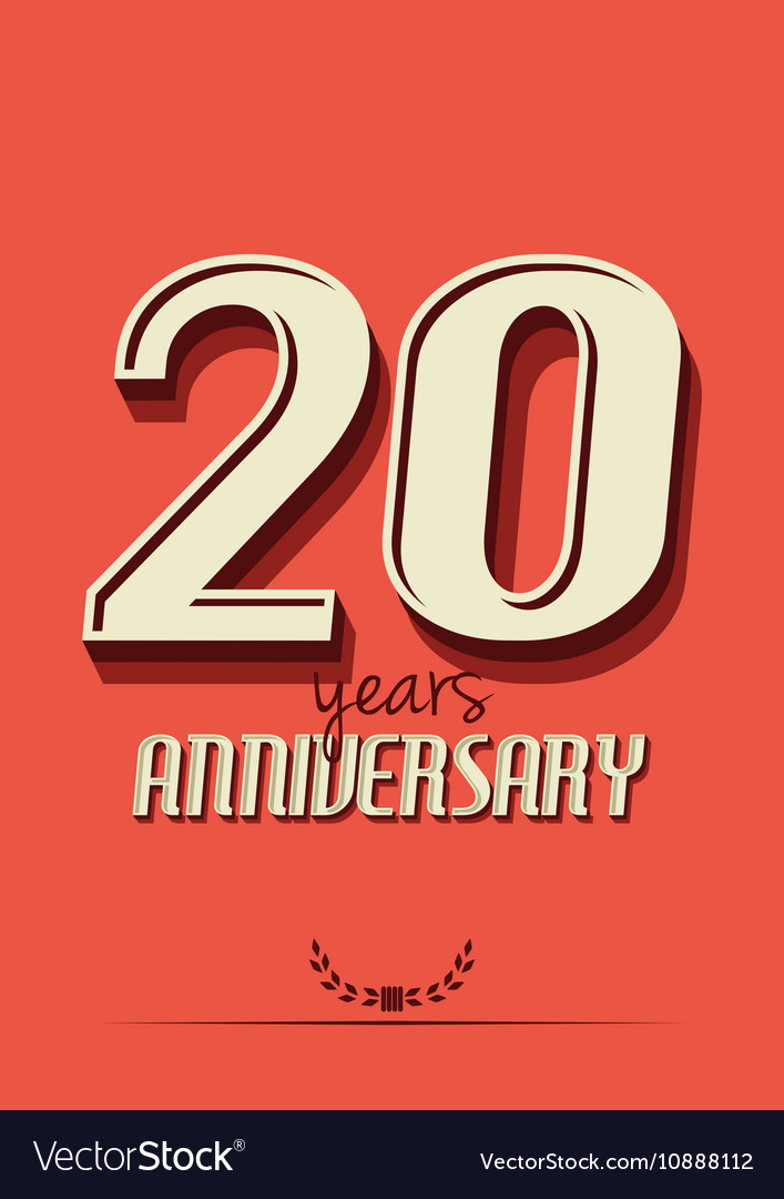 10 year an4 vector image