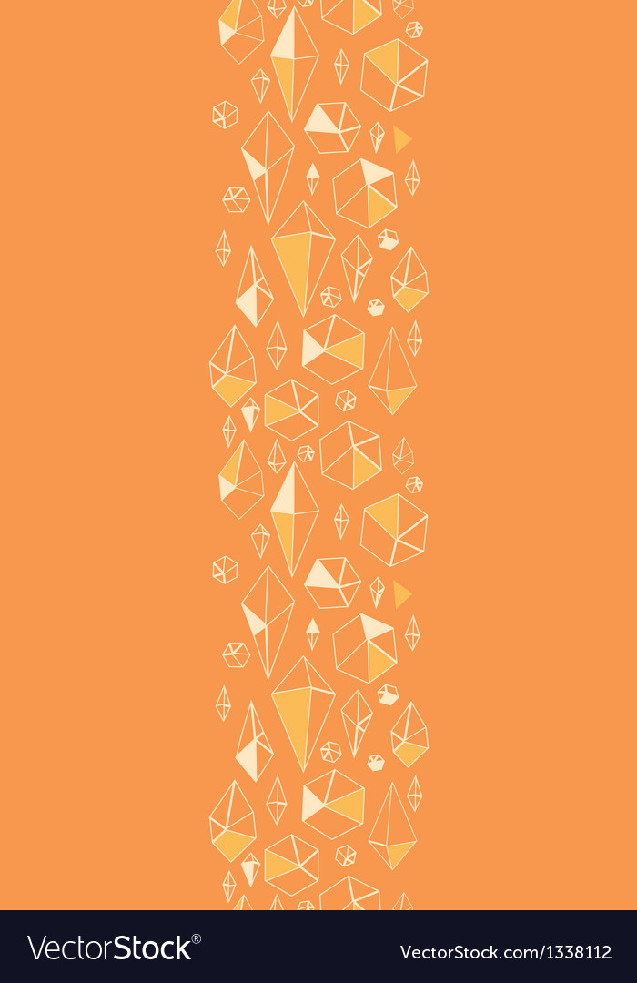 Abstract geometric chrystals vertical seamless vector image
