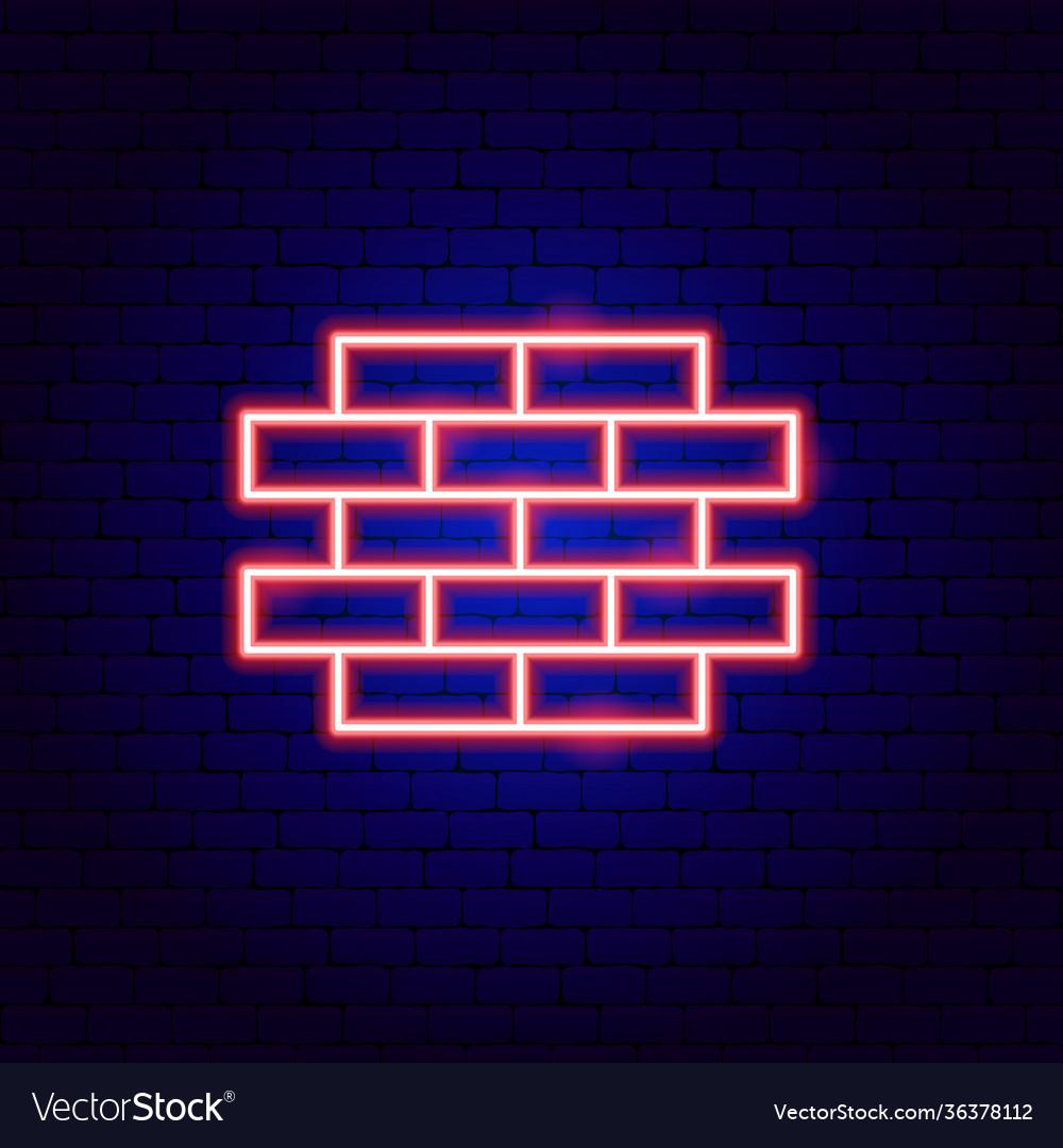 Brick wall neon sign