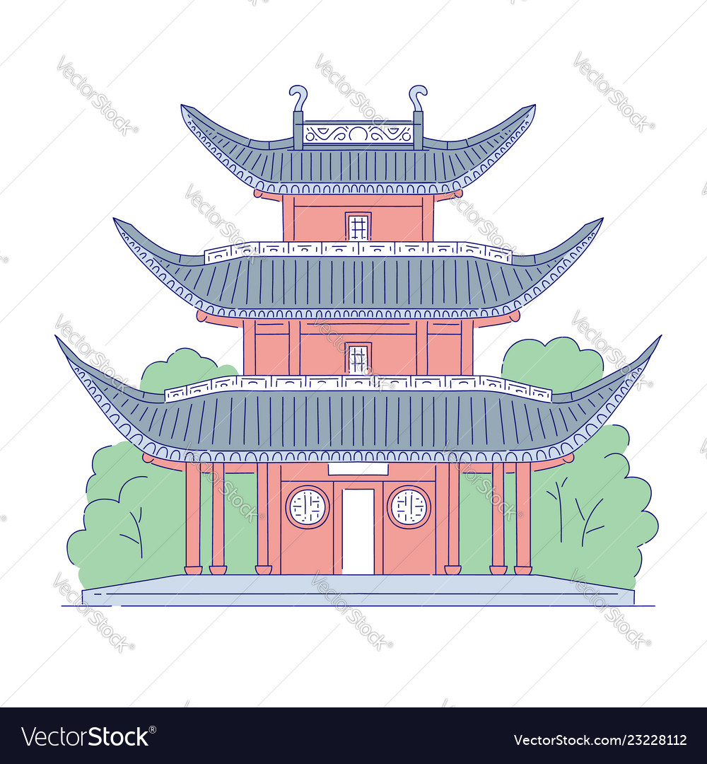 Chinese building architectural landmark