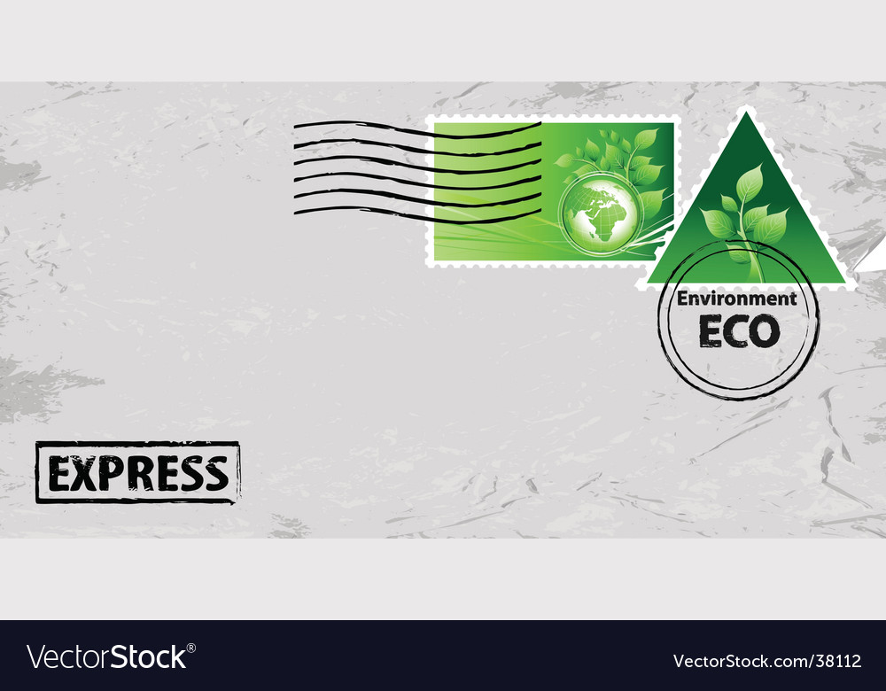 Eco mail vector image