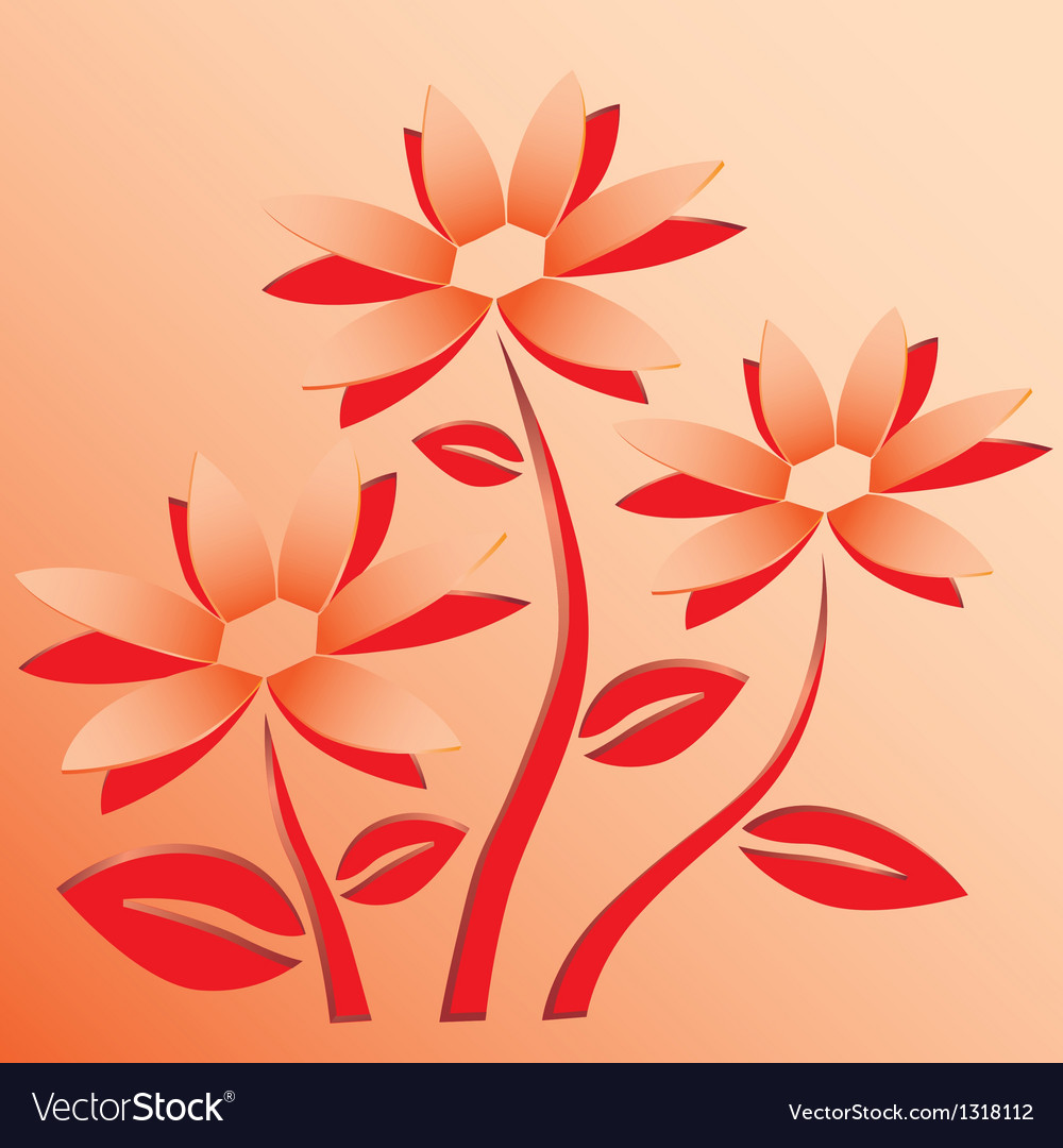Flower Cut Out Of Paper Royalty Free Vector Image