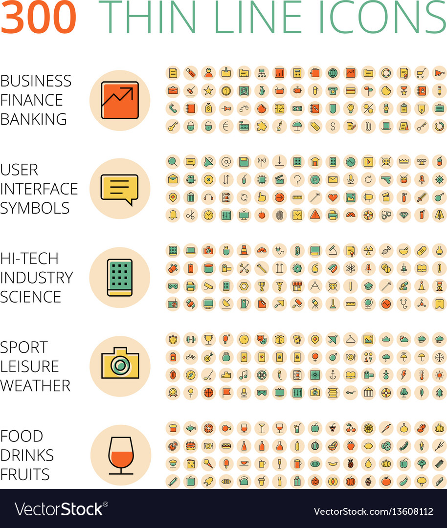 Icons for business technology industrial food