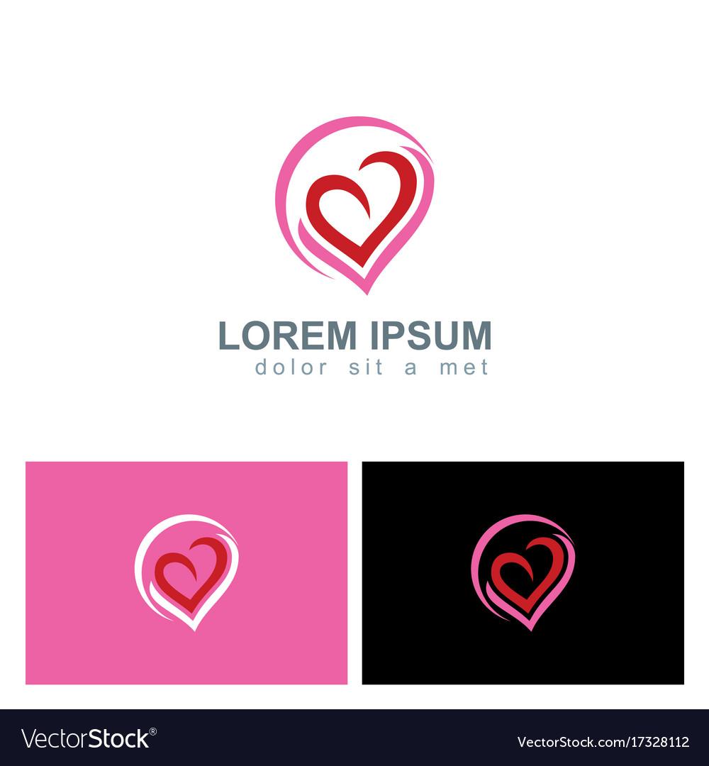 Love heart valentine abstract logo