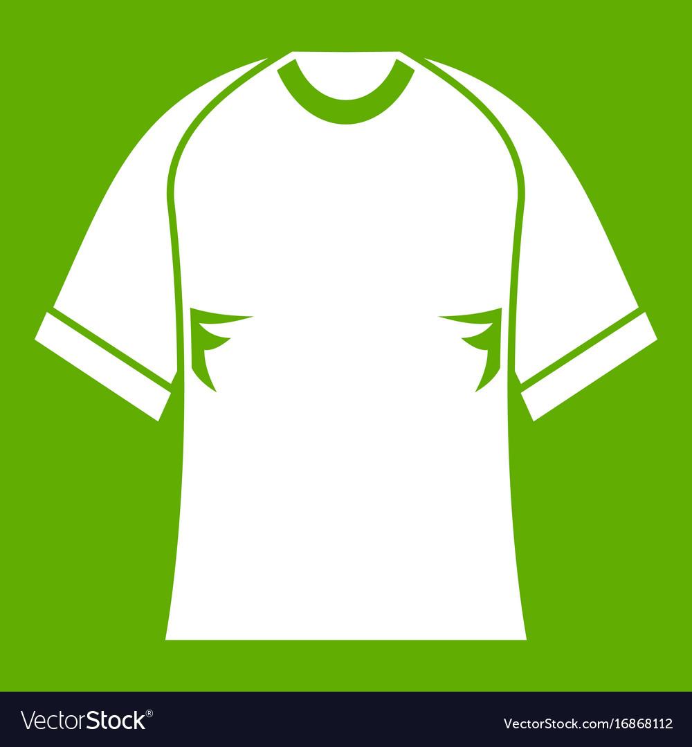 Raglan tshirt icon green