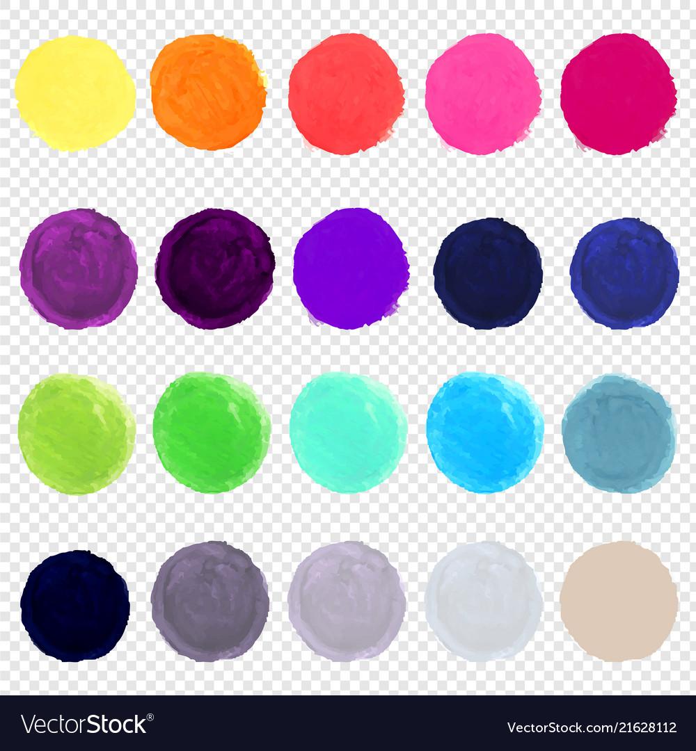 Watercolor blots big set