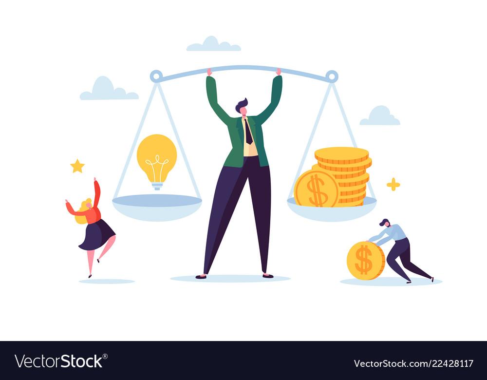 Business idea and money concept businessman