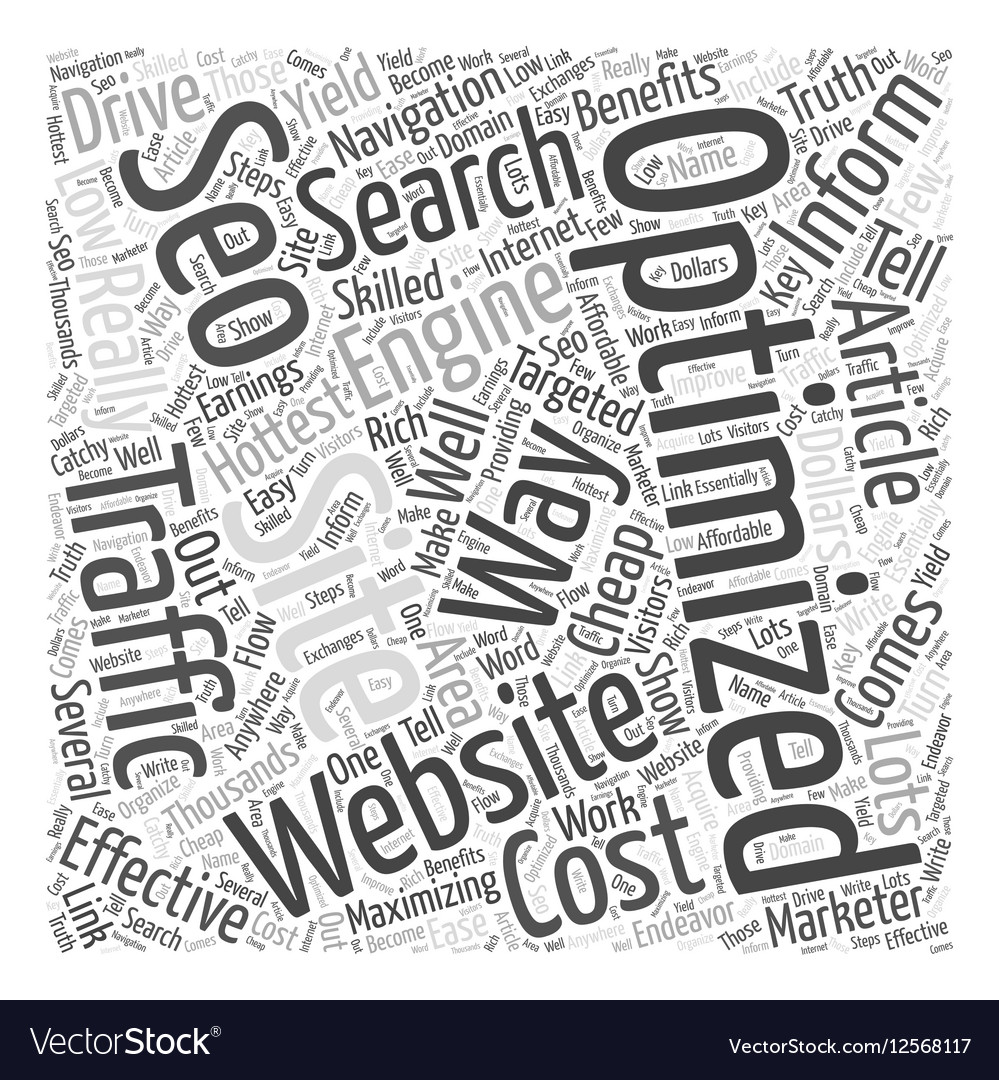 BW Low cost SEO Word Cloud Concept