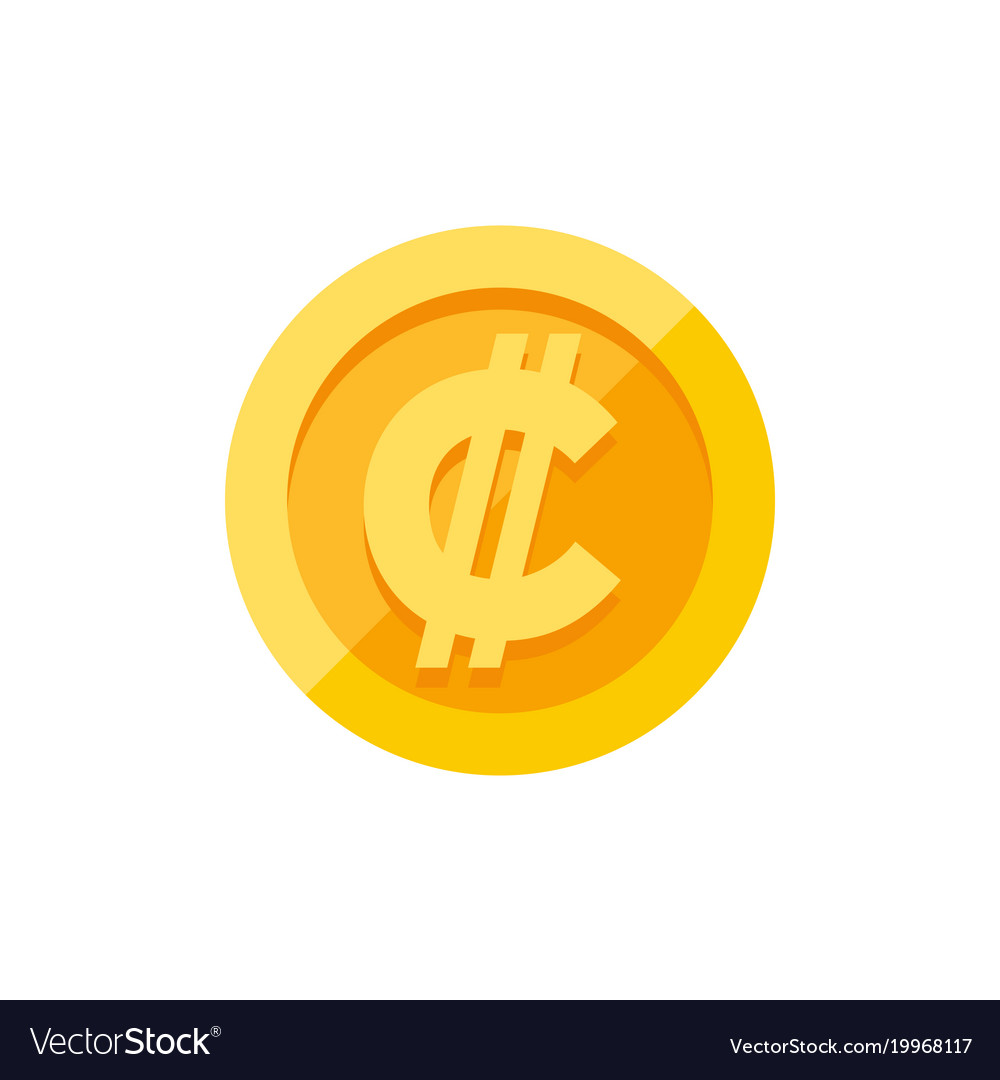 Costa Rican And Salvadoran Colon Currency Symbol Vector Image