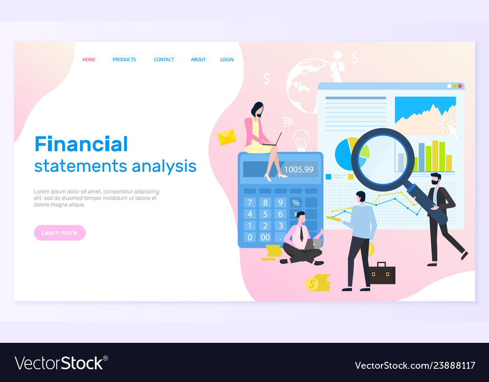 Financial statement analysis statistical graphics