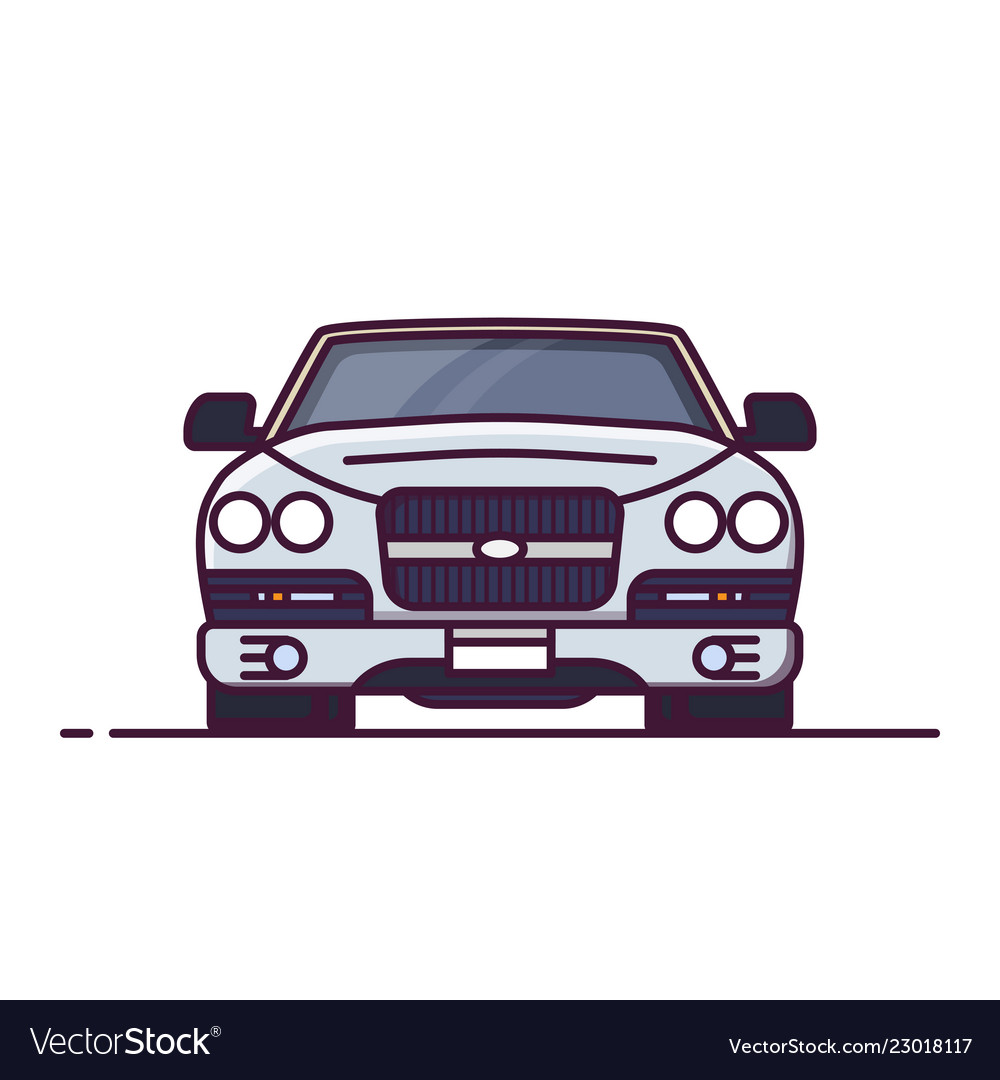 Front View Of Luxury Car Royalty Free Vector Image