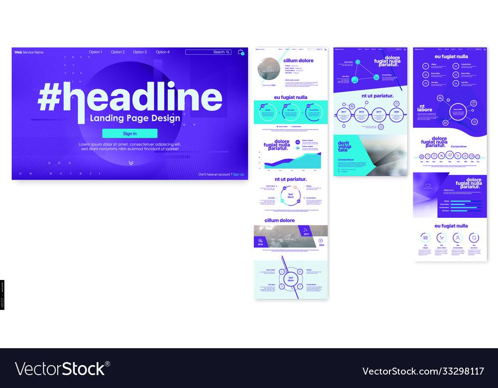 Landing page design from website web ui ux design