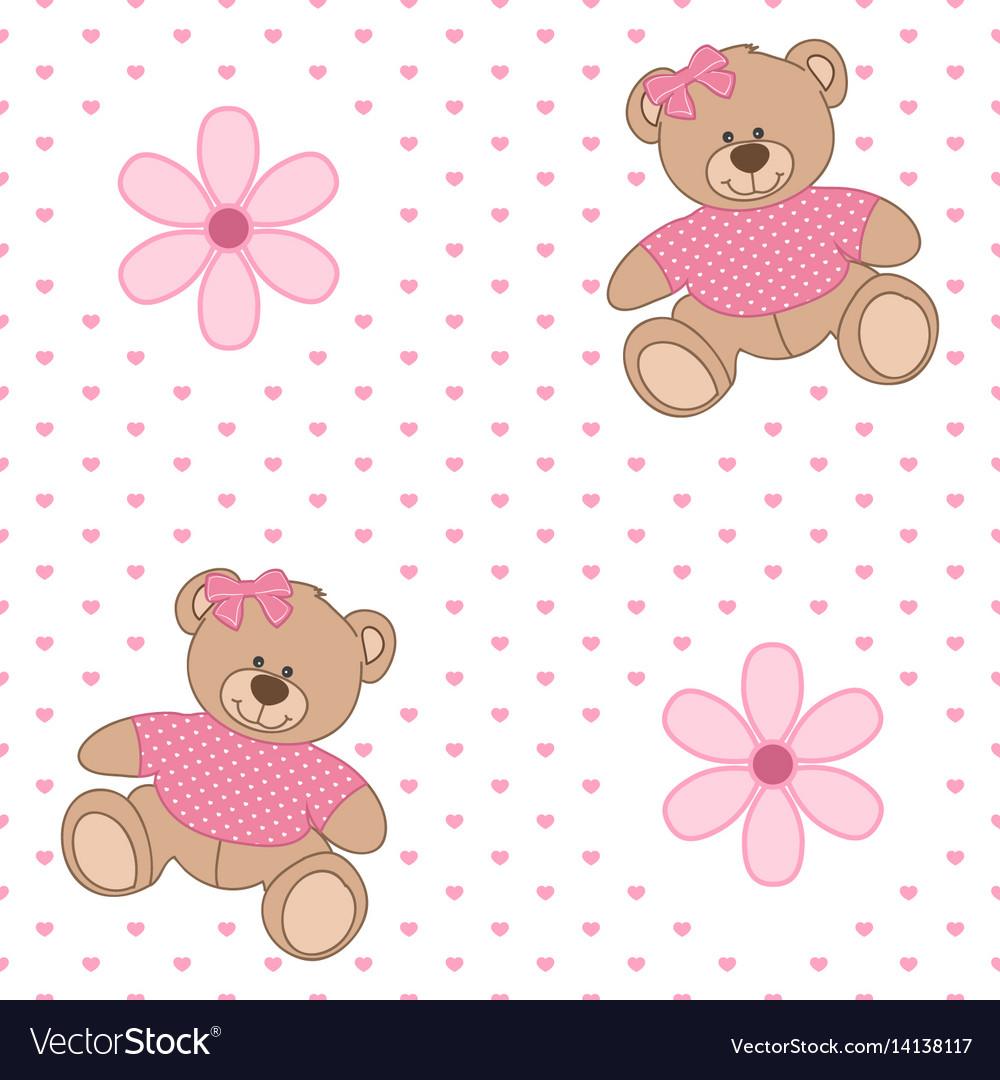 Pattern bear flower
