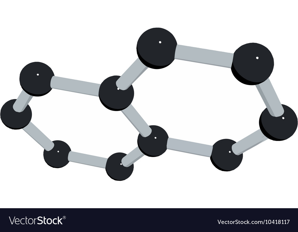 Science background with molecule on white