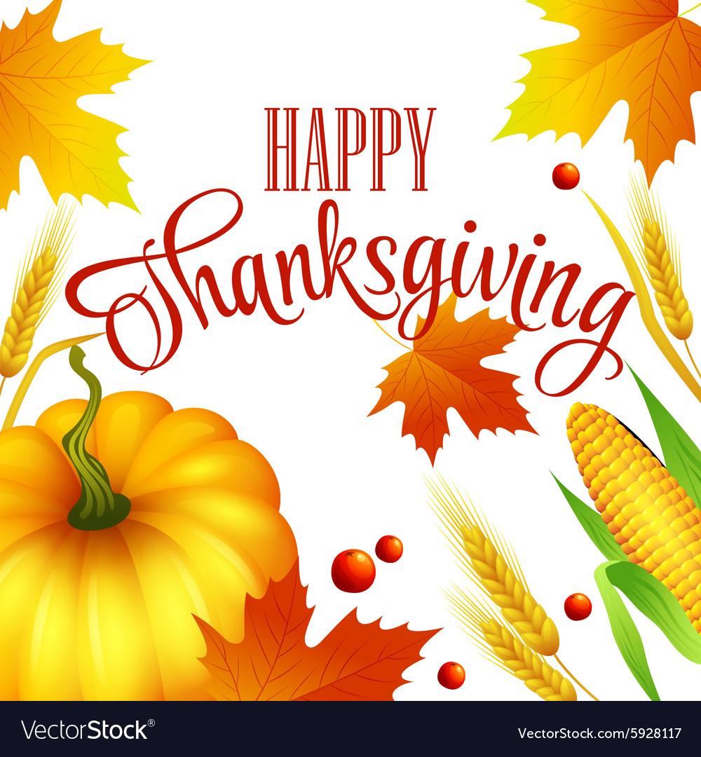 Thanksgiving autumn card