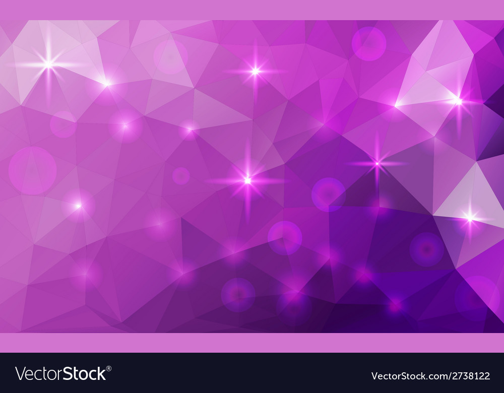 Abstract polygonal cosmic background vector image