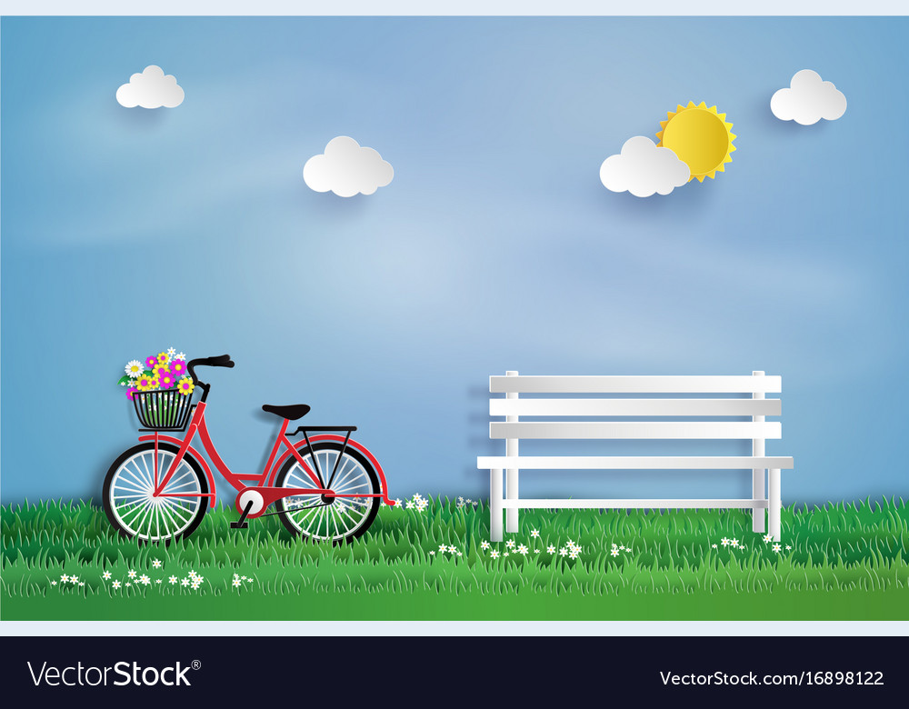 Bicycle in the garden