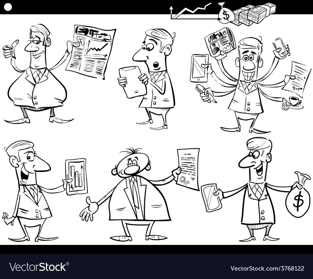 Businessmen cartoon set