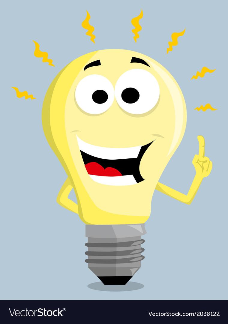 Рисунок смешной лампочки