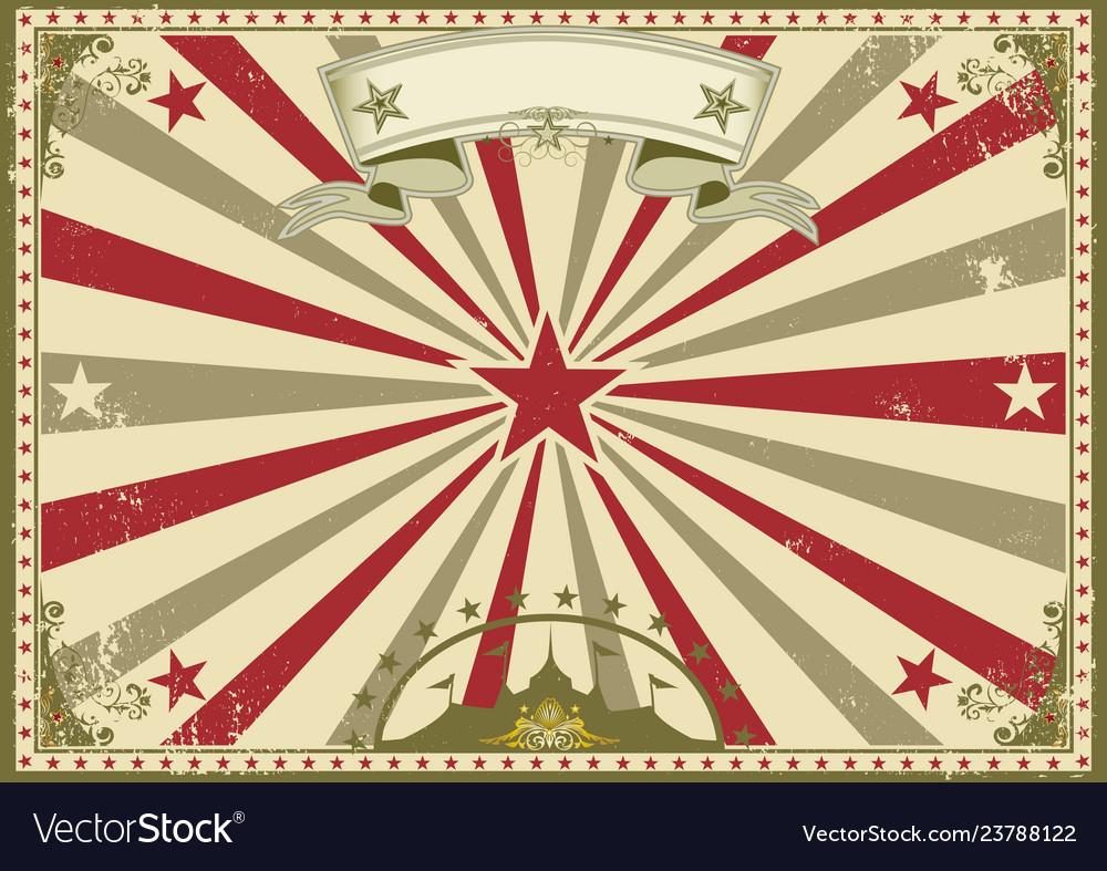 Circus vintage horizontal poster
