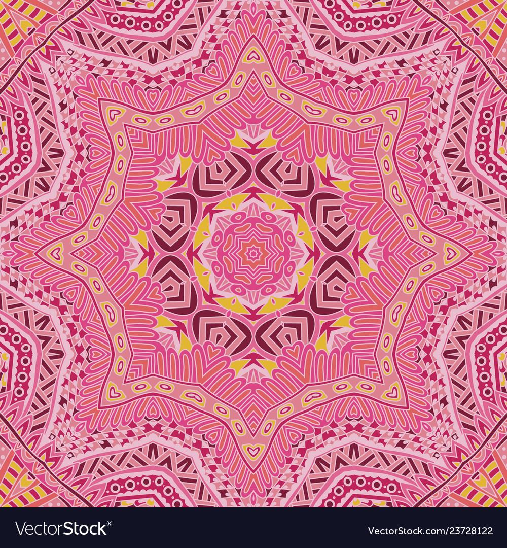 Doodle indian floral paisley medallion pattern