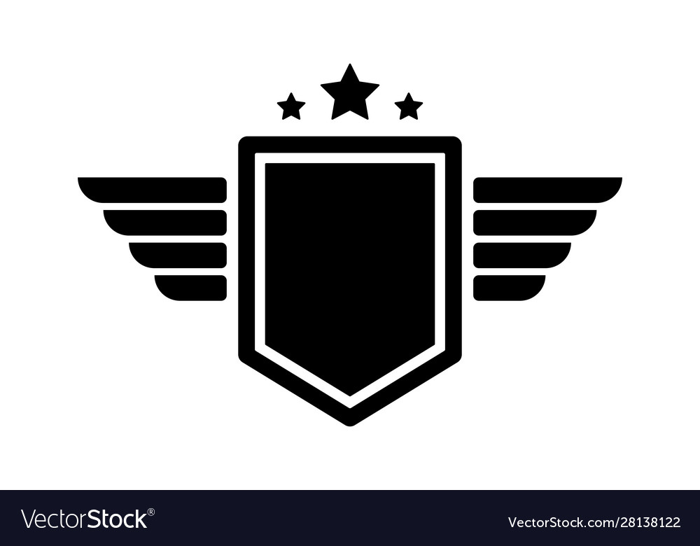 Eagle wings army badges aviation wing labels