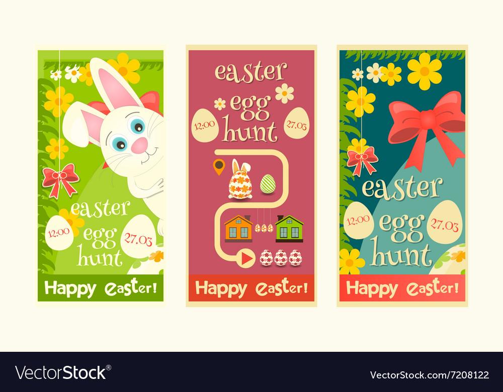 Easter Invitation Cards set