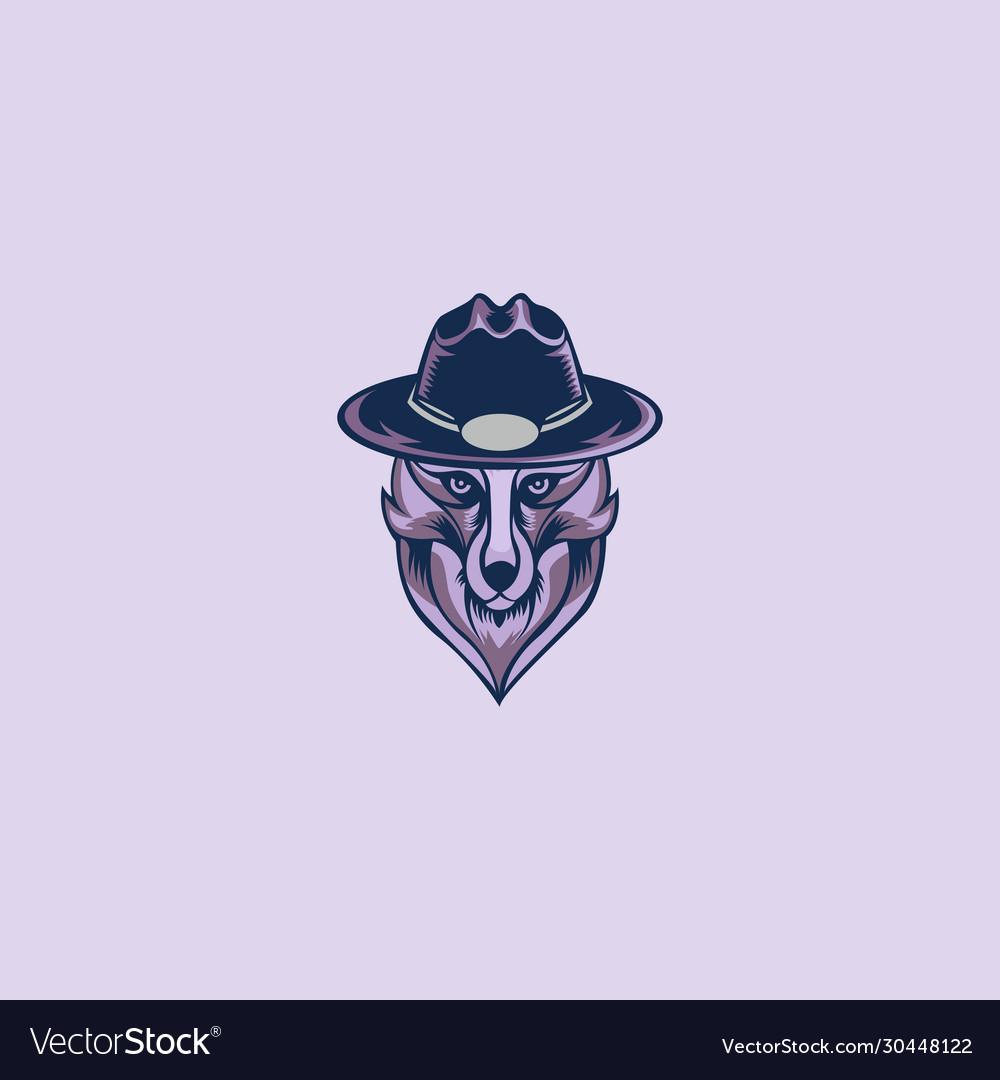 Head wolves mascot logo
