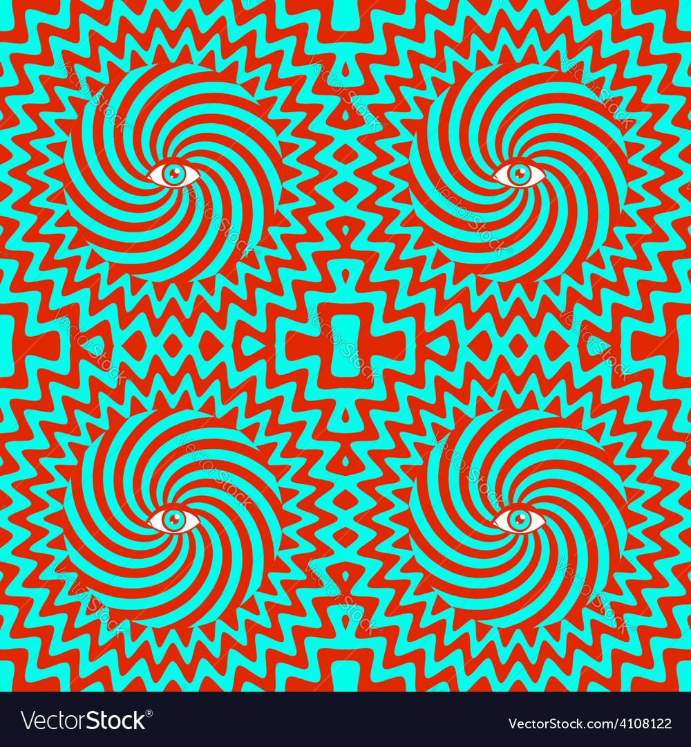 Hypnotic pattern bright vector image
