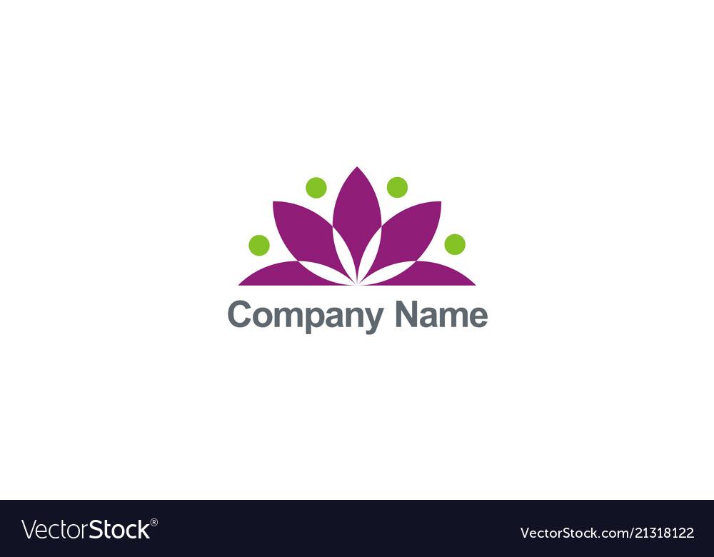 Lotus flower geometry logo