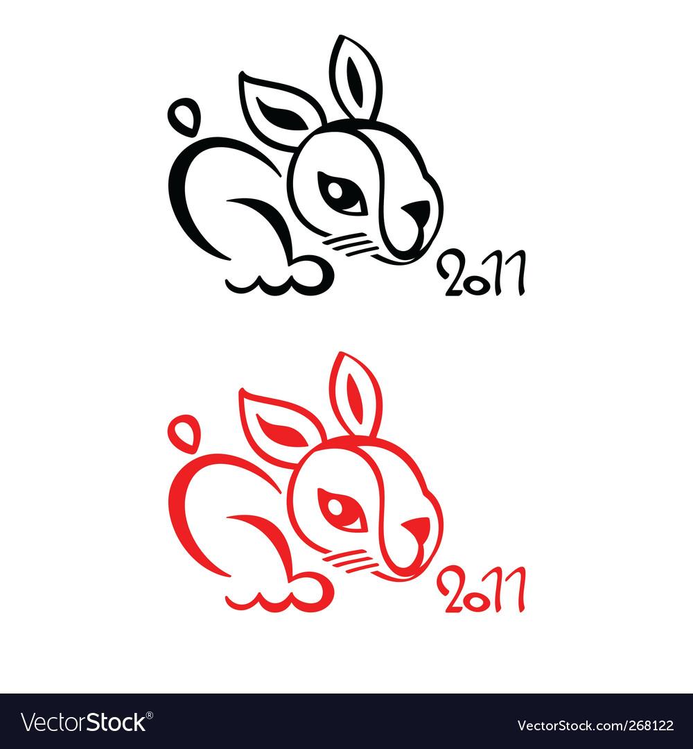 Rabbit chinese new year 2011 symbol isolated. Keywords: