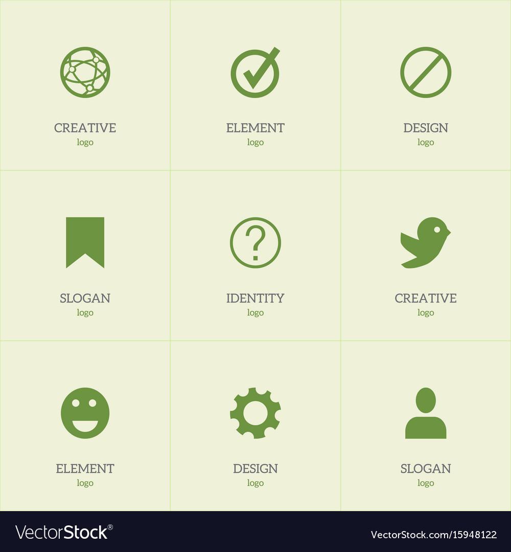 Set of 9 editable internet icons includes symbols