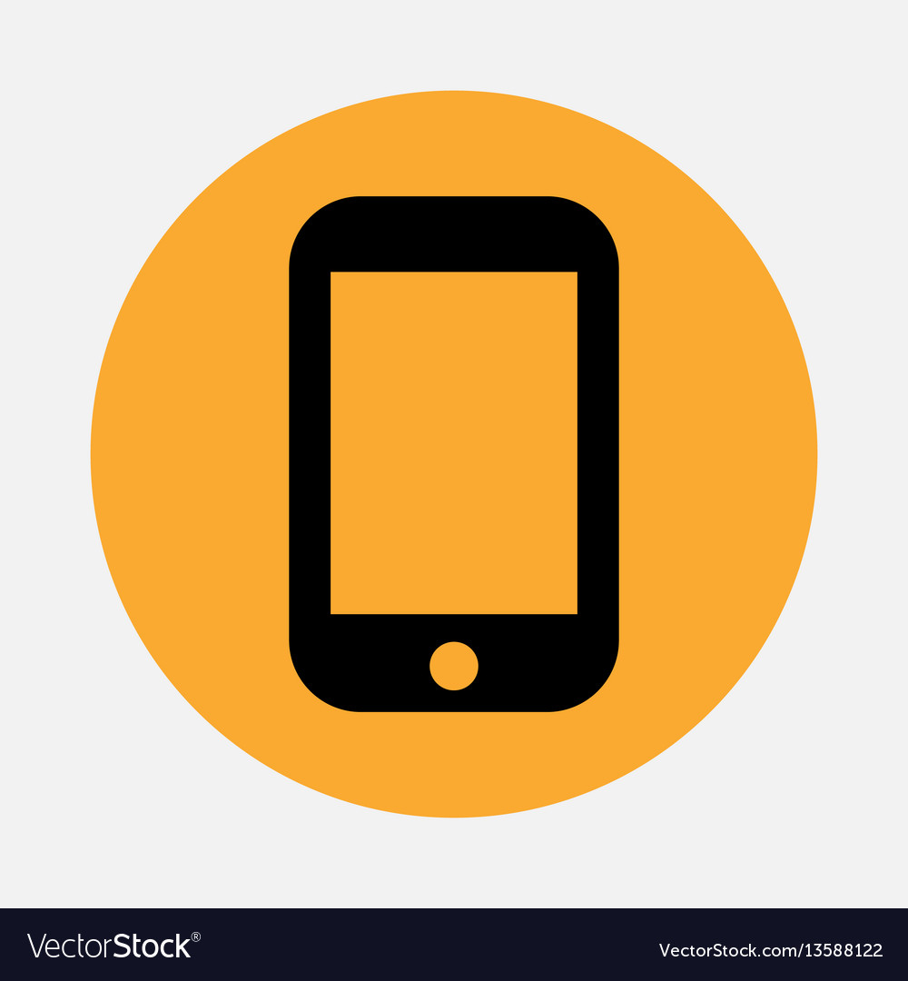 Simple smartphone or mobile phone icon isolated