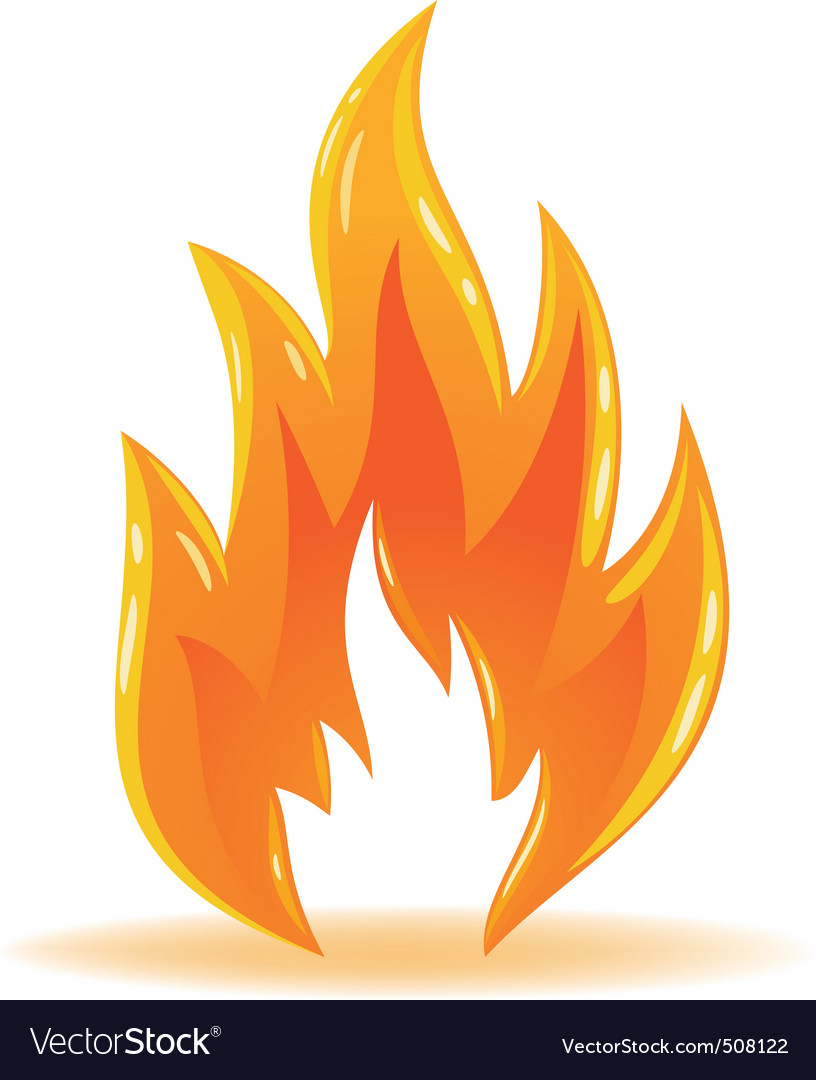 Vector Symbol Fire Shiny Flame Royalty Free Vector Image