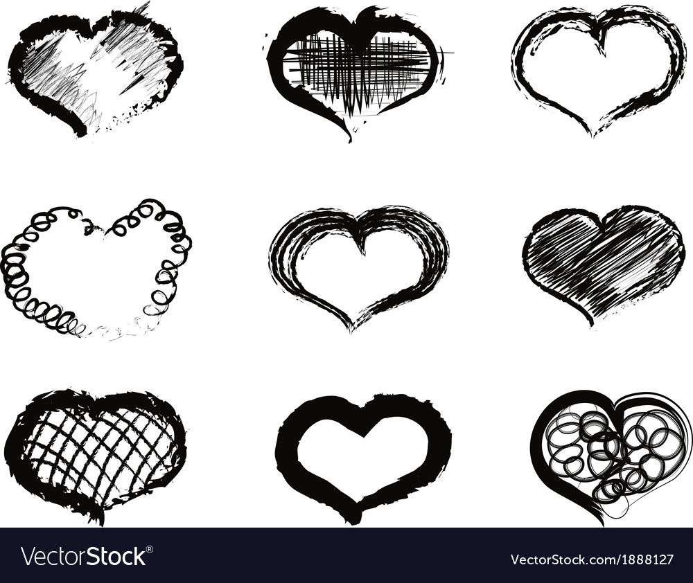 Abstract heart icons