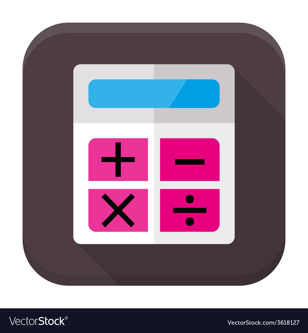 Calculator flat app icon with long shadow