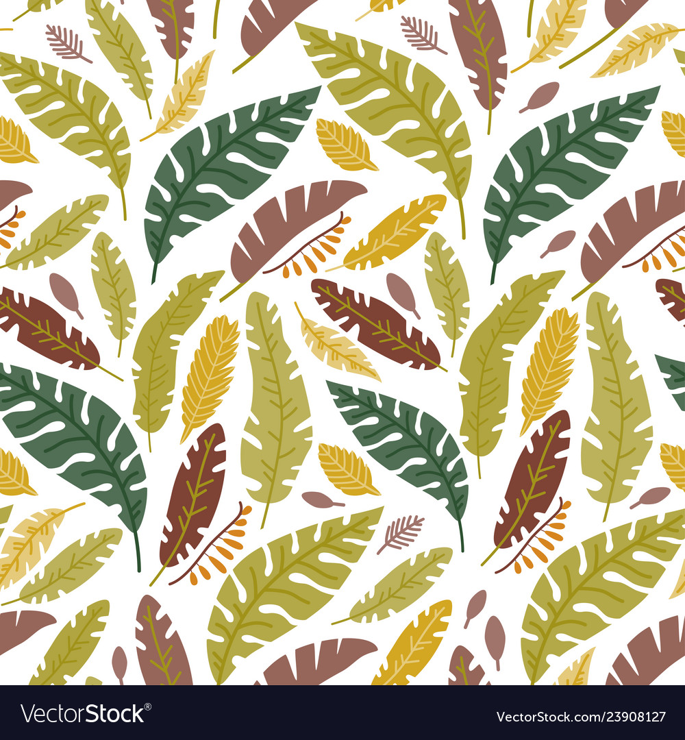 Floral seamless pattern with a fallen leaves
