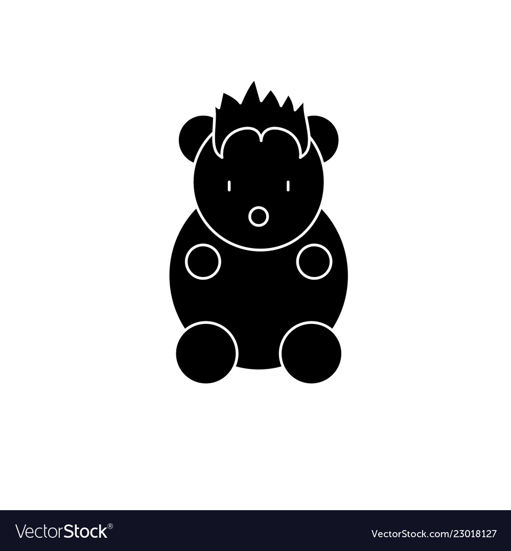 Funny little animal black icon sign on