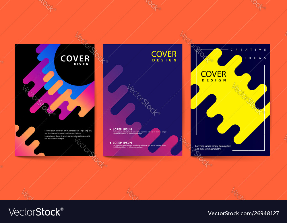 Futuristic cover template with geometric shapes