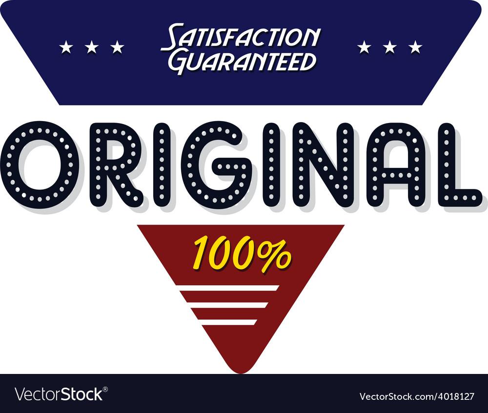 Original quality badge