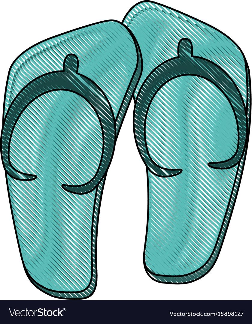 Sandals flip flops vector image