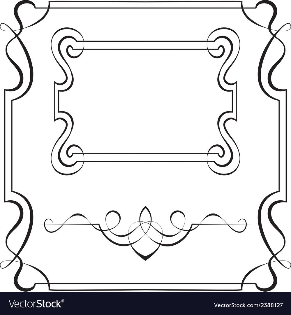 Set frames for design Royalty Free Vector Image