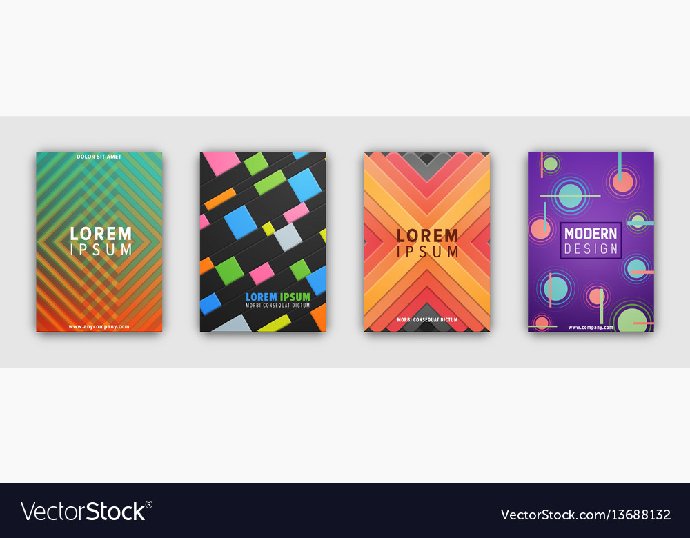 Cover pattern template with geometric figures