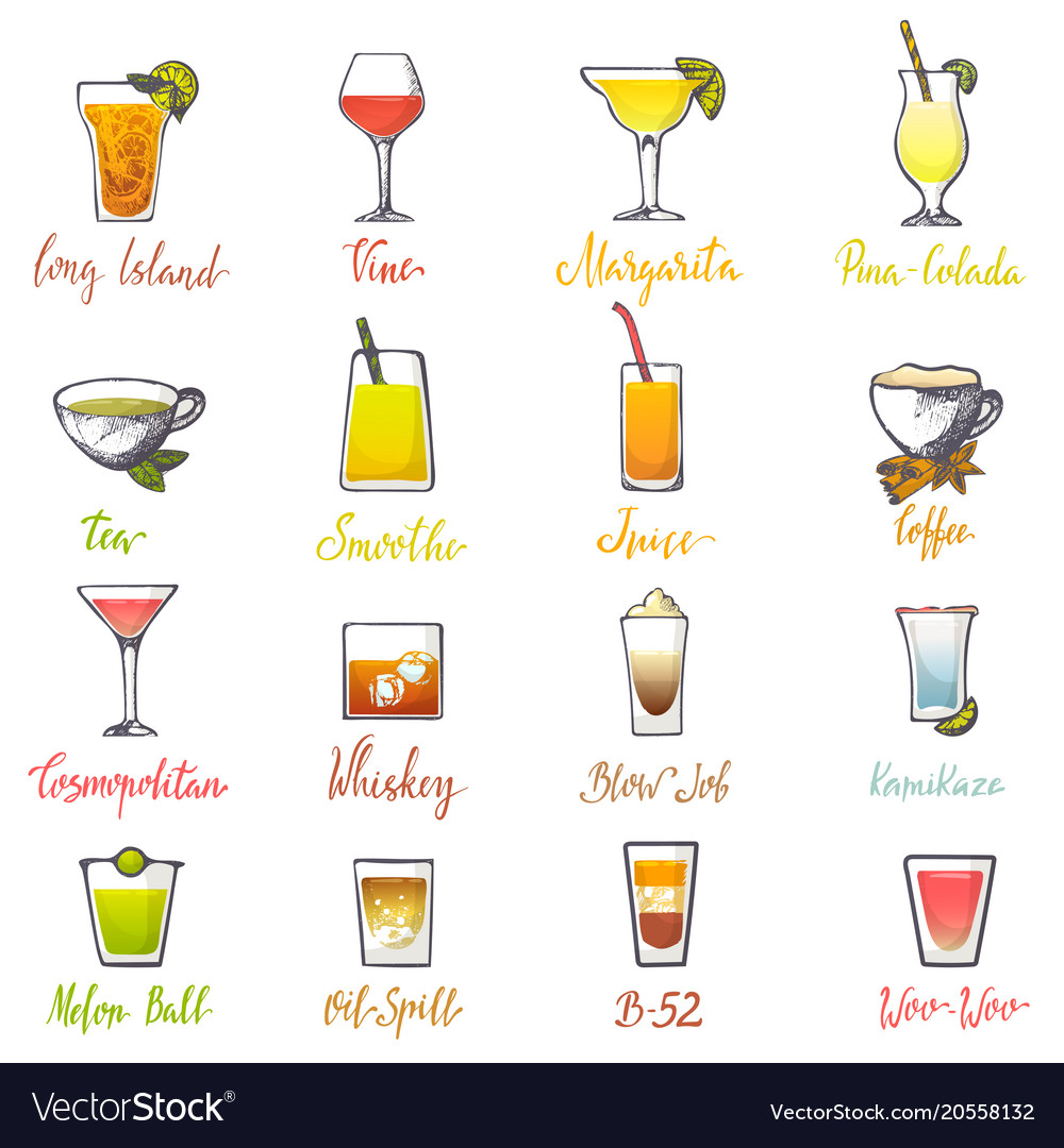 Drinks Alcoholic Beverage And Drinkable Royalty Free Vector