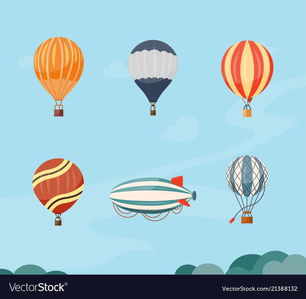 Hot air balloons and airship