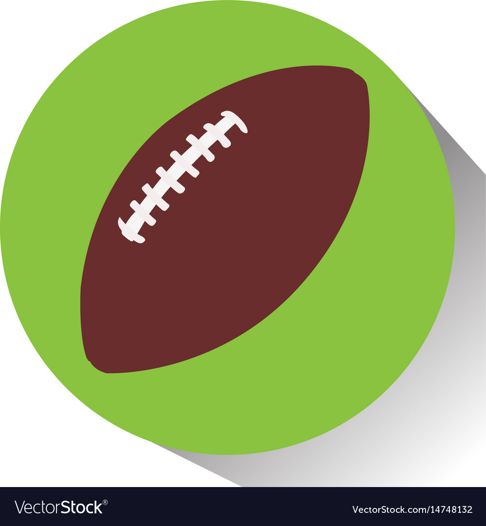 Isolated football ball