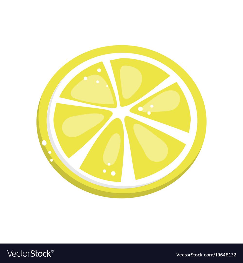 lemon slice cartoon royalty free vector image vectorstock rh vectorstock com cartoon lemon pictures cartoon lemonade pic